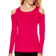 Bisou Bisou® Long-Sleeve Cold-Shoulder Sweater