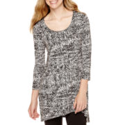 Decree® 3/4-Sleeve High-Low Tunic