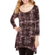 Decree® 3/4-Sleeve High-Low Tunic