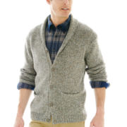 St. John's Bay® Neppy Shawl-Collar Cardigan