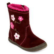 Okie Dokie® Bree Girls Bump-Toe Boots - Toddler