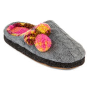 Cuddl Duds® Pom Perfect Slippers