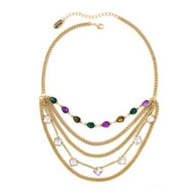 jcpenney.com | nicole by Nicole Miller® Multicolor Stone Layered-Look Necklace