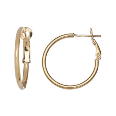 jcpenney.com | 14K Yellow Gold Over Sterling Silver Hoop Earrings