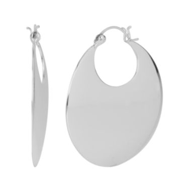 jcpenney.com | Silver-Plated Round Hoop Earrings