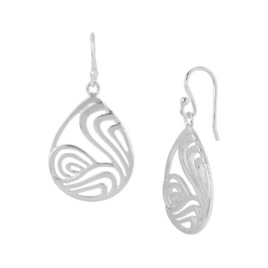 jcpenney.com | Silver-Plated Swirl Open Teardrop Earrings