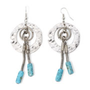 Aris by Treska Cyprus Blue Bead Orbital Earrings