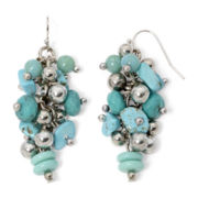 Aris by Treska Cyprus Blue Bead Cluster Earrings