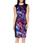 London Style Collection Sleeveless Sheath Dress