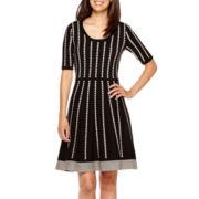 Danny & Nicole® Elbow-Sleeve Sweater Dress - Petite