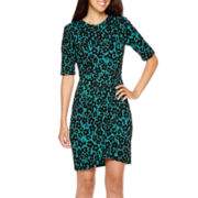 Danny & Nicole® Elbow-Sleeve Sheath Dress - Petite
