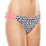 Arizona Shirred Hipster Swim Bottoms - Juniors
