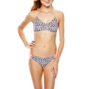Arizona Bralette Swim Top or Shirred Hipster Bottoms - Juniors