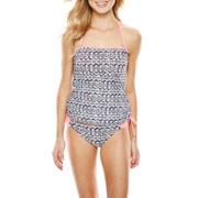 Arizona Shirred Bandeaukini Swim Top or Shirred Hipster Bottoms - Juniors