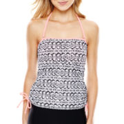 Arizona Shirred Bandeaukini Swim Top - Juniors