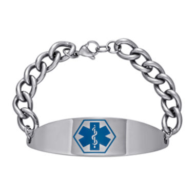 jcpenney.com | Stainless Steel Personalized Medical ID Bracelet