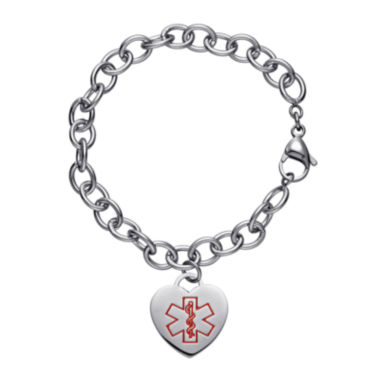 jcpenney.com | Personalized Stainless Steel Medical Heart Bracelet