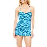 a.n.a® Draped Bandeau One-Piece Swimdress