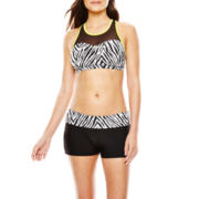 ZeroXposur® Reversible Mesh Bra Swim Top or Yoga Swim Shorts