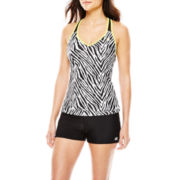 ZeroXposur® Print Tankini Swim Top or Yoga Swim Shorts