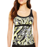 ZeroXposur® Flow Peasant Tankini Swim Top