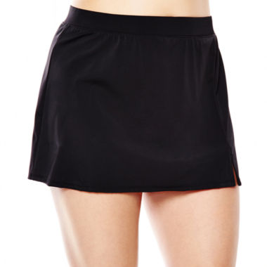 jcpenney.com | Jamaica Bay® Slit Skirted Swim Bottoms - Plus