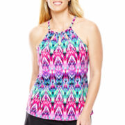 Jamaica Bay® High-Neck Halterkini Swim Top - Plus