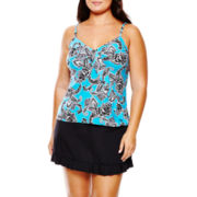 Jamaica Bay® Ruffle Tankini Swim Top or Skirted Bottoms - Plus