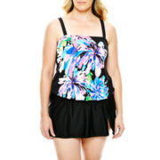 Delta Burke® Floral Print Tankini Swim Top or Slit Skirted Bottoms - Plus