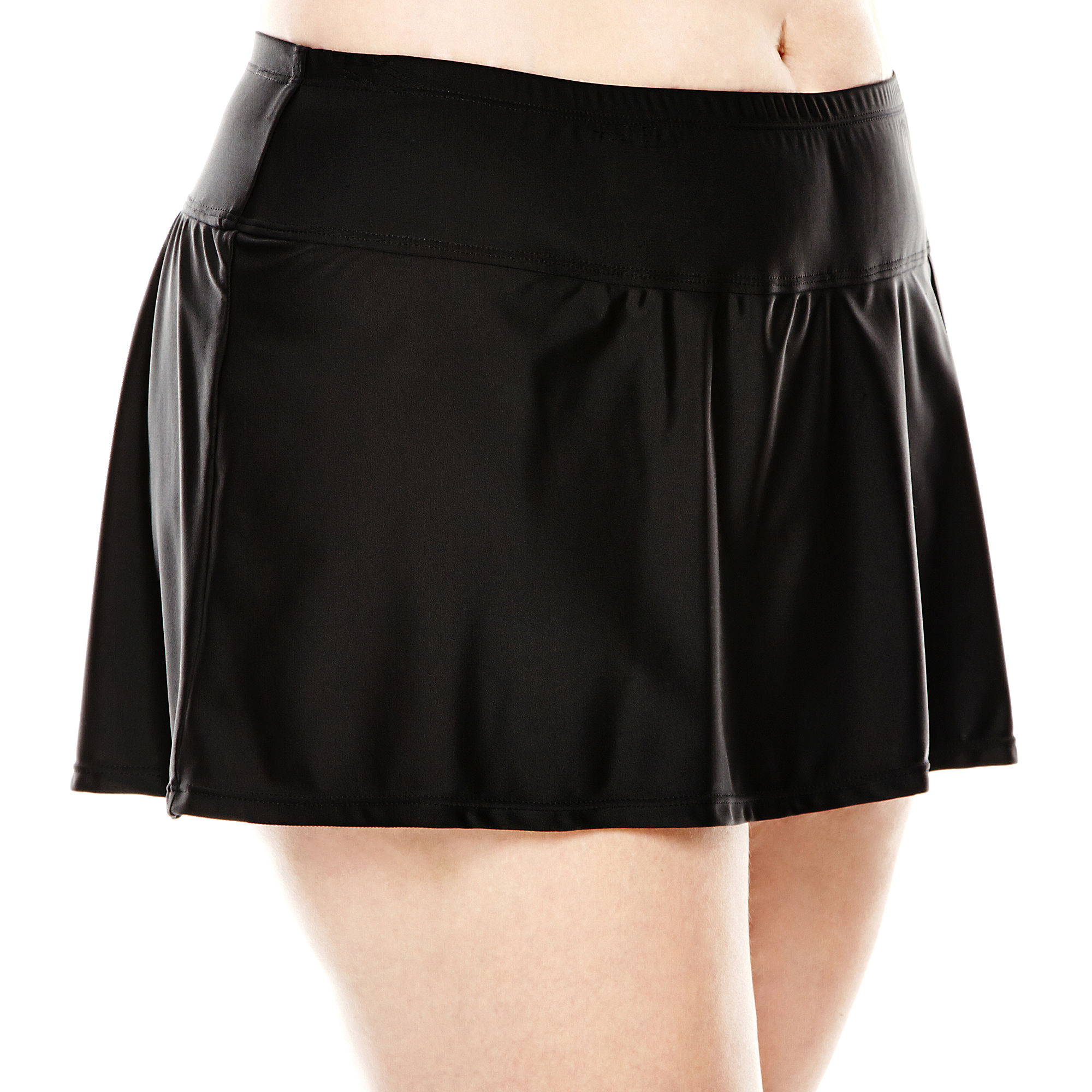 Delta Burke Slit Skirted Swim Bottoms - Plus plus size,  plus size fashion plus size appare
