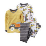 Carter's® 4-pc. Dump Truck Pajama Set - Baby Boys newborn-24m