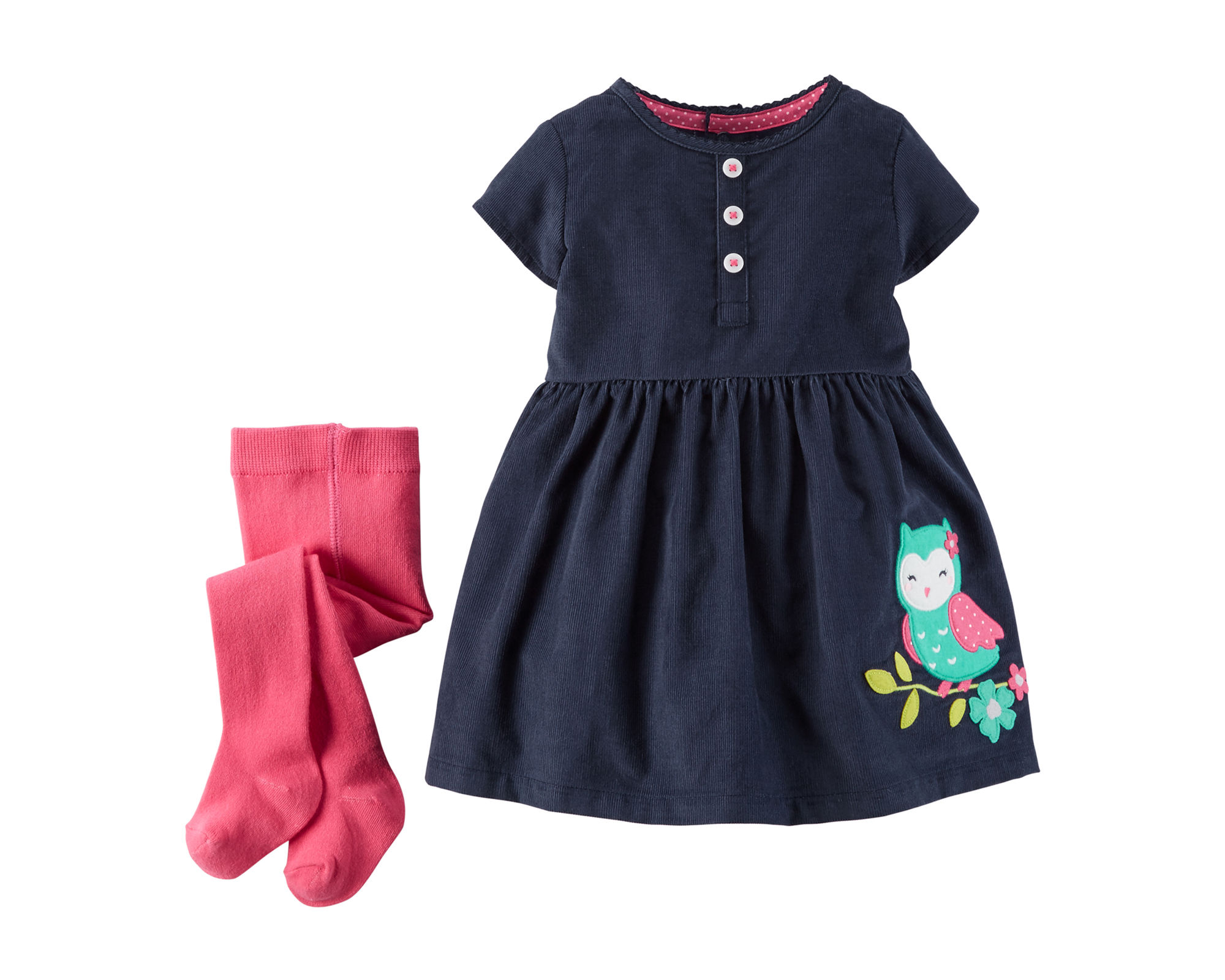 UPC Carter s Baby Girls 3 24 Month Owl Dress With