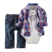 Carter's® Shirt, Bodysuit and Jeans - Baby Boys newborn-24m