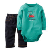 Carter's® Bodysuit and Jeans - Baby Boys newborn-24m