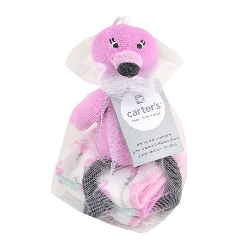 Carter's® Flamingo Bath Toy and Washcloths