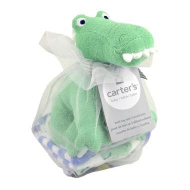 jcpenney.com | Carter's® Gator Bath Toy and Washcloths