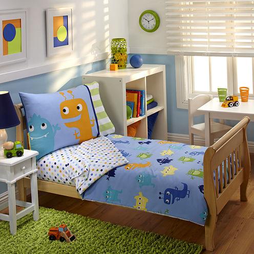 NoJo® Monsters 4-pc. Toddler Bedding Set