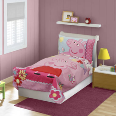jcpenney.com | Peppa Pig 4-pc. Toddler Bedding Set