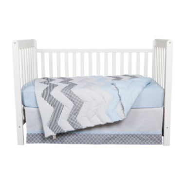 jcpenney.com | Trend Lab® 3-pc. Blue Taffy Crib Bedding Set