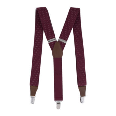 "jcpenney.com | Collection by Michael Strahan 1½"" Pindot Suspenders - Big & Tall"