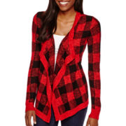 Arizona Long-Sleeve Buffalo Check Cardigan