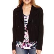 Liz Claiborne® Moto Jacket - Tall