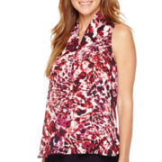 Liz Claiborne® Print V-Neck Tank Top