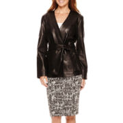 Liz Claiborne® Leather Kimono Jacket, Belted Peplum Top or Textured Skirt