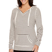 Made For Life™ Long-Sleeve Striped Hooded Tunic