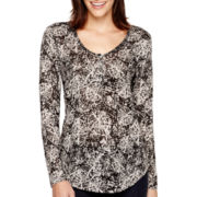 i jeans by Buffalo Print Henley Top