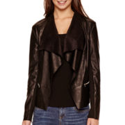 i jeans by Buffalo Faux-Leather Flyaway Jacket