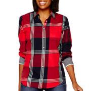 Stylus™ Long-Sleeve Brushed Twill Plaid Shirt