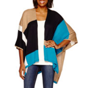 Stylus™ Short-Sleeve Colorblock Poncho Top