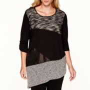 Alyx® 3/4-Sleeve Asymmetrical Top - Plus